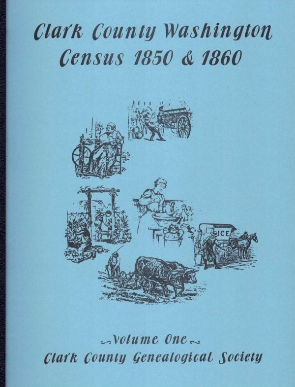 Clark County Census 1850 and 1860 cover