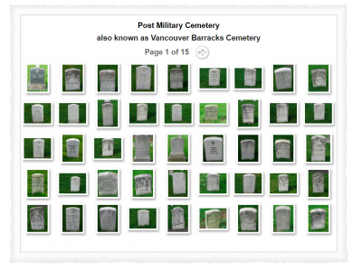 post military gravestones project